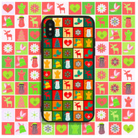 Colorful Christmas Squares Phone Case