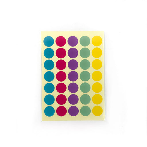 Colourful Polka Dots Stickers (Medium)