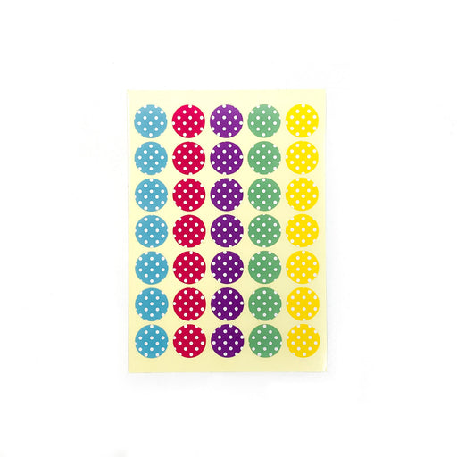 Colourful Polka Dots Stickers (Medium) 2