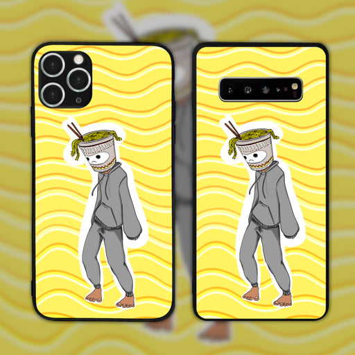 College Series 01: Cup Noodle Head by Appletea.psd Phone Case