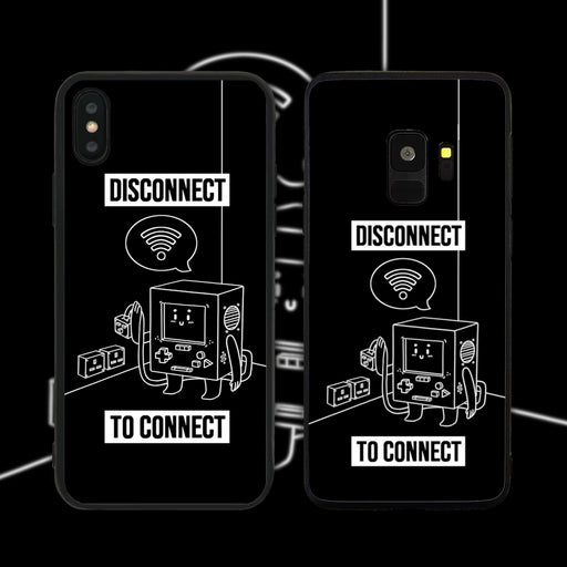 Disconnect to Connect Black Phone Case