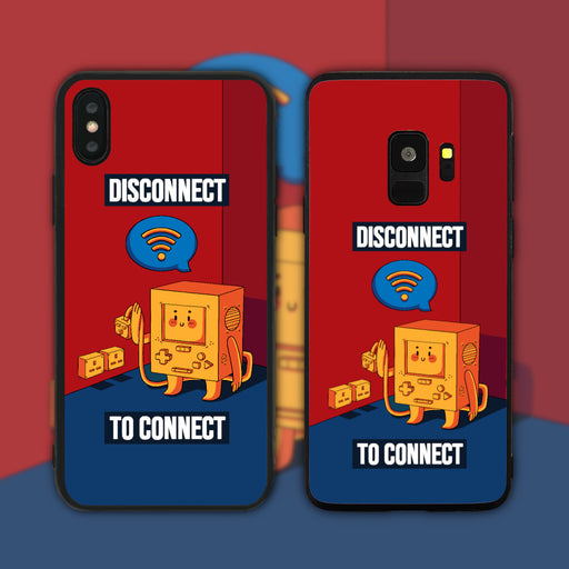 Disconnect to Connect Coloured  Phone Case