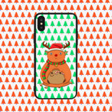 Fat Rudolph Green Phone Case