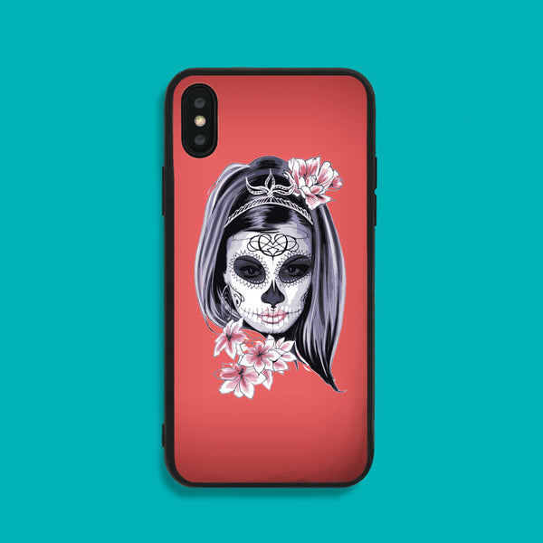 Girl At Masquerade Phone Case