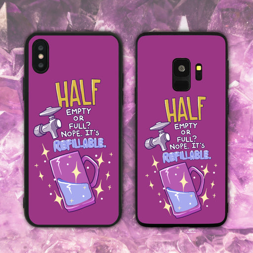 Half Empty Glass Phone Case