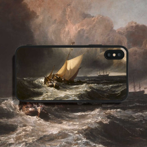 Joseph Mallord William Turner Dutch Boats In A Gale Phone Case