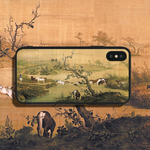 Lang Shining One Hundred Horses 1 Phone Case