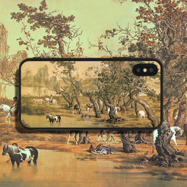 Lang Shining One Hundred Horses 2 Phone Case