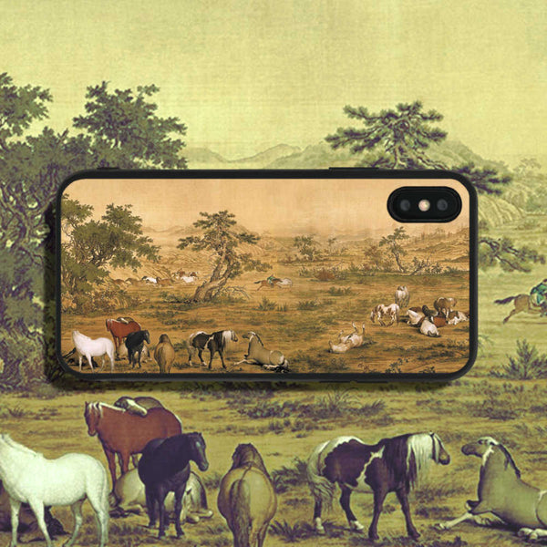 Lang Shining One Hundred Horses 3 Phone Case