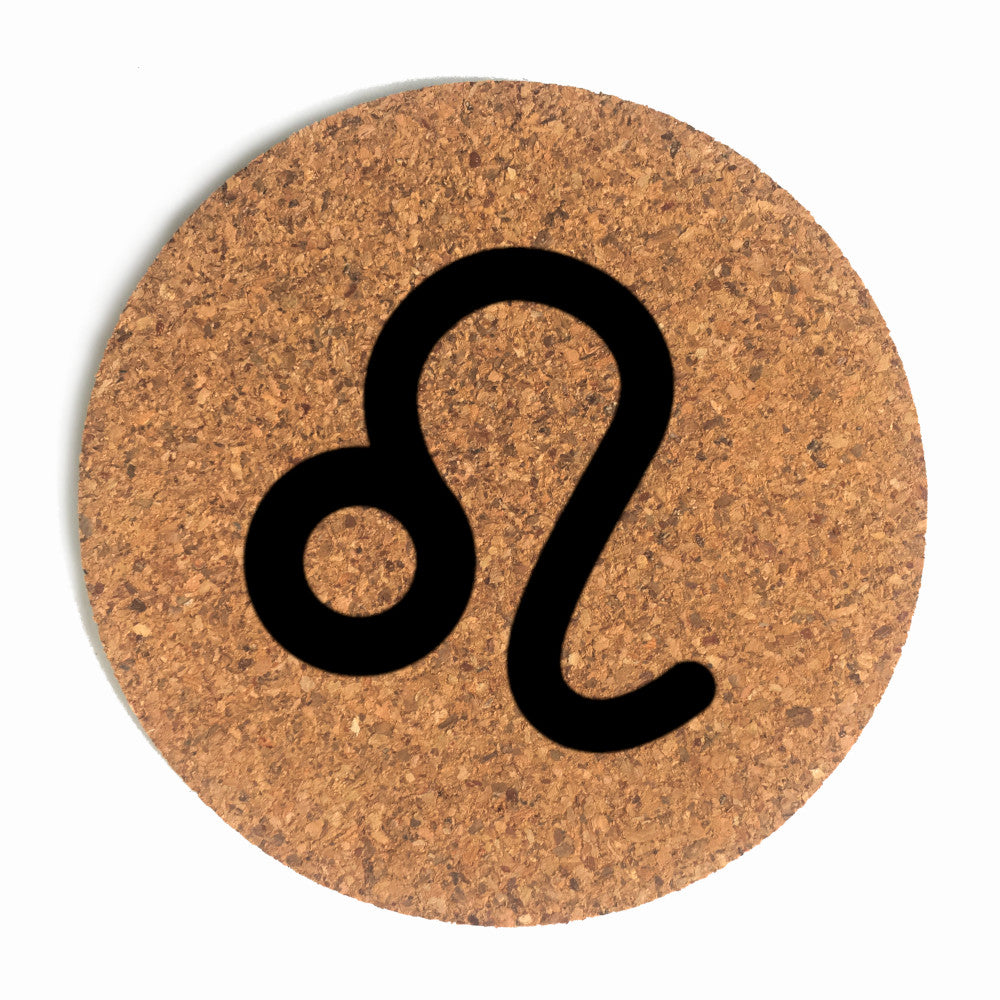 Leo Sign Cup Coaster (Cork)