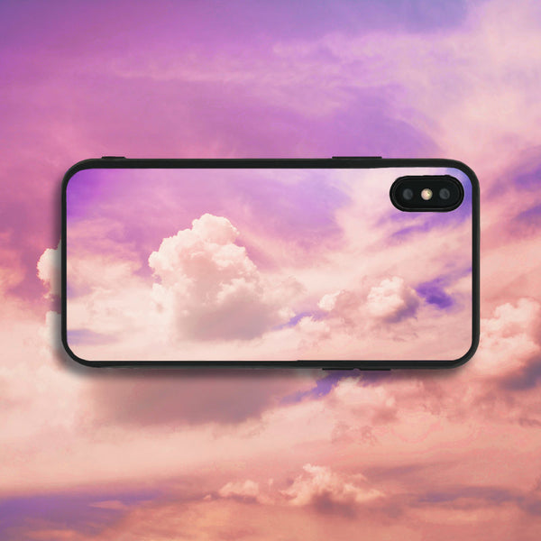 Lilac Clouds in the Sky Phone Case