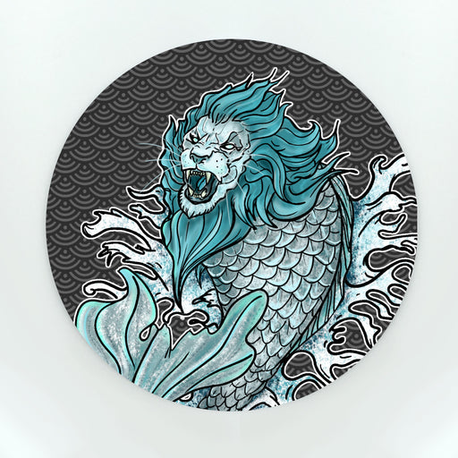 Merlion In Hokusai Waves Cup Coaster (Paper)