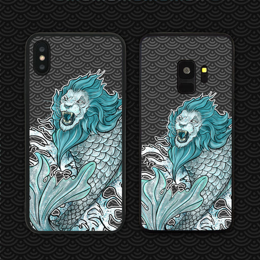 Merlion In Hokusai Waves Phone Case