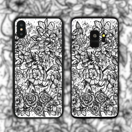 Monochrome Garden Phone Case