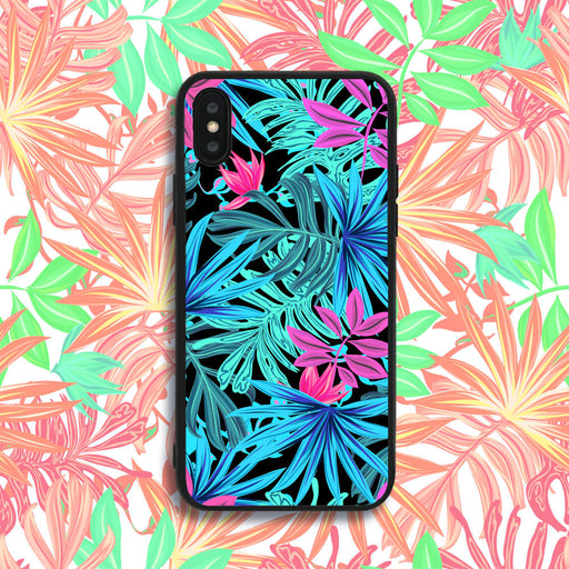 Neon Leaves Phone Case