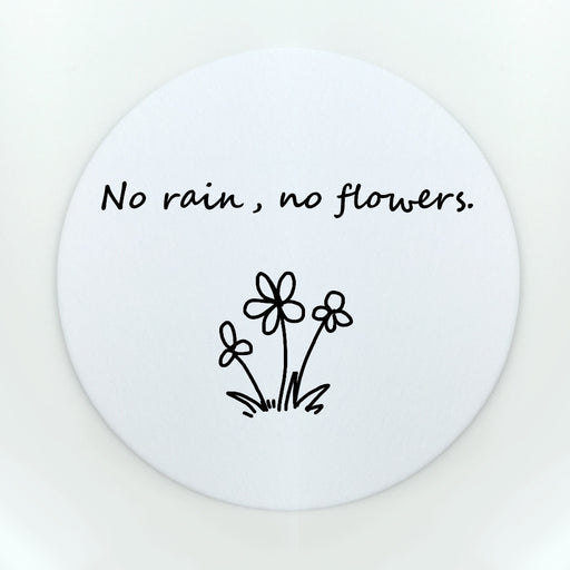No Rain No Flowers Small Cup Coaster (Paper)