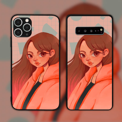 Pink by Crystallyart Phone Case