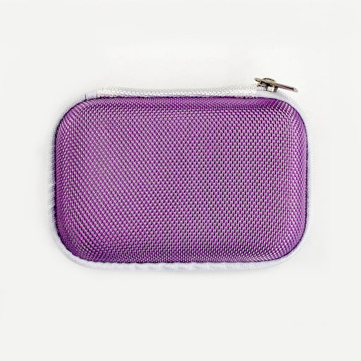 Purple Rectangular Earphone Case