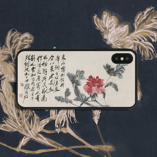 Qi Baishi Flowers In Broken Branches Phone Case