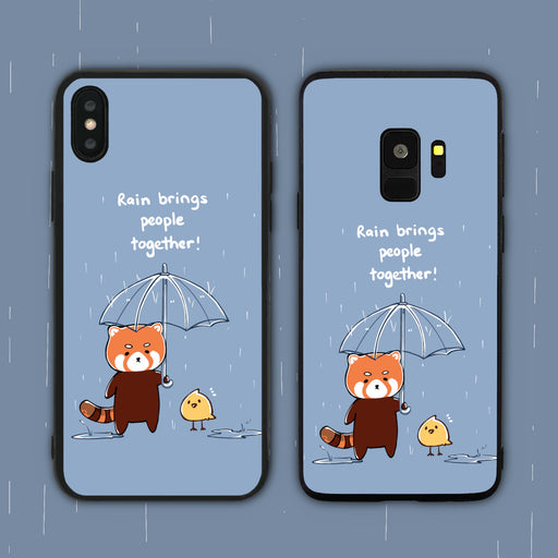 Rain Brings People Together Phone Case