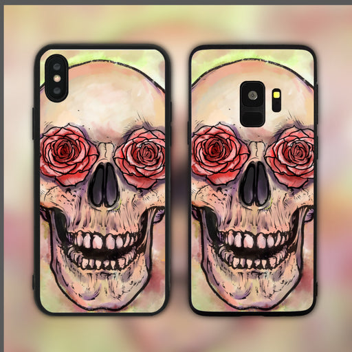Rosy Eyed Skull Phone Case