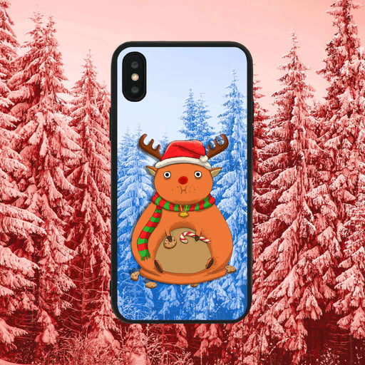 Rudolph Eating Too Much Blue Phone Case