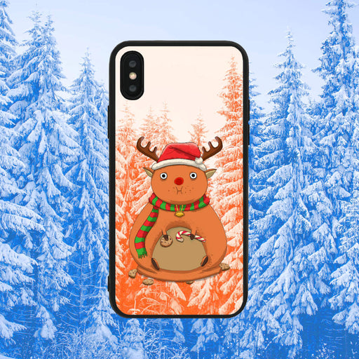 Rudolph Eating Too Much Brown Phone Case