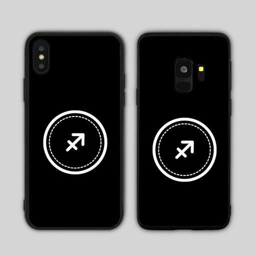 Sagittarius Sign Black Phone Case