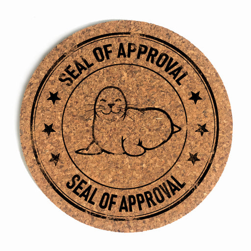 Seal of Approval Cup Coaster (Cork)