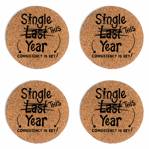 Single This Year Cup Coaster (Cork) Bundle