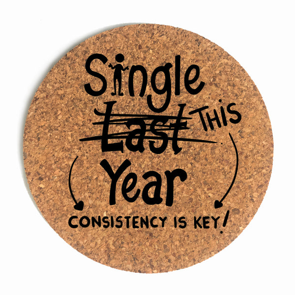 Single This Year Cup Coaster (Cork)