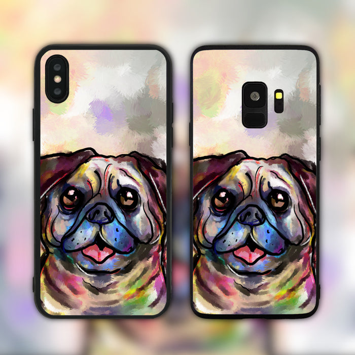 Splatter Pug Phone Case