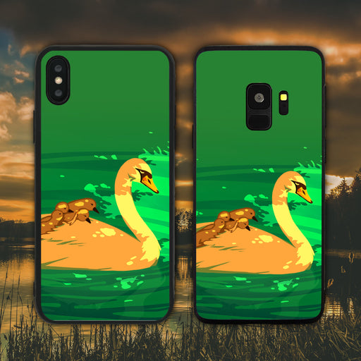 Swan Piggy Back Love Phone Case