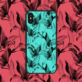 Teal Leaves Phone Case