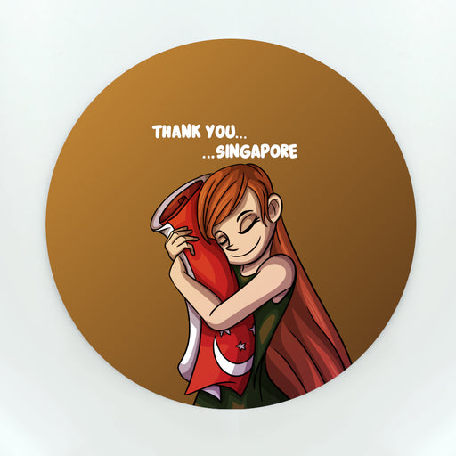 Thank You Singapore Cup Coaster (Paper)