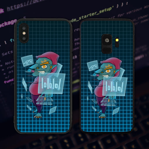 Web Troll Grinning Phone Case