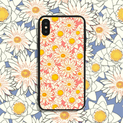 White Flowers on Pink Phone Case
