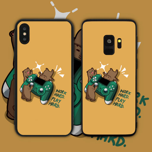 Work Hard Play Hard Bear Phone Case