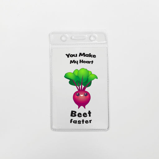 You Make My Heart Beet Faster Cardholder (Soft)