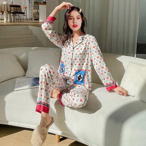 Silk long thin pajamas