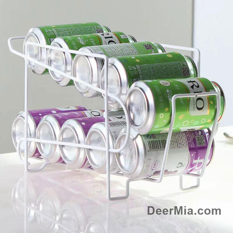 Cans, beverages, alcohol, refrigerator storage rack-homeware