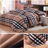 Cotton plaid four-piece set-homeware