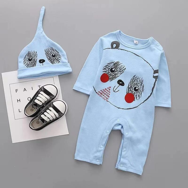 Baby Boy / Girl Tiger, Panda, Cat Long Sleeve Jumpsuit