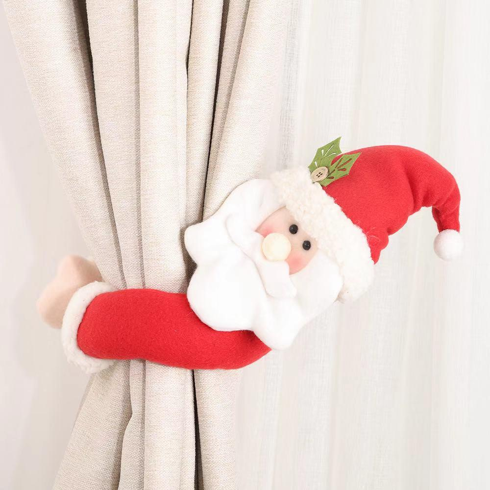 2 PCS Christmas Decorations - Cartoon Curtain Decoration Buckle