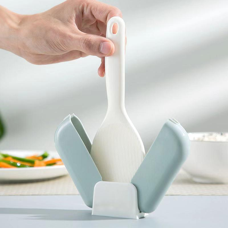 Automatic dust cover + rice spoon set-Homeware
