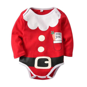 Cute Christmas Baby Variety Long Sleeve One Piece