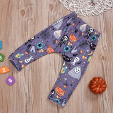 Baby / Toddler Halloween Letter Print Bodysuit and Pants Set