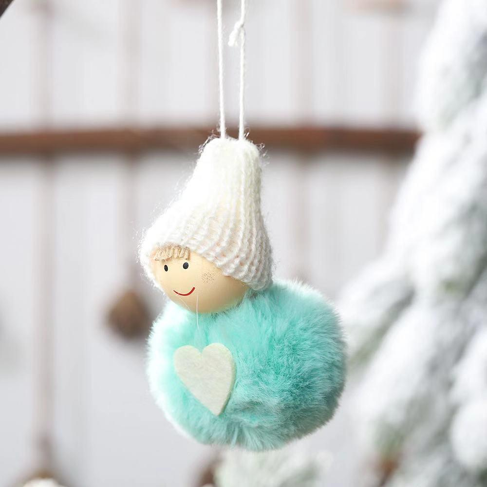 Christmas Decorations - Cute Mini Snowman Pom Doll Pendant