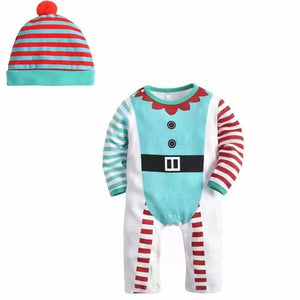 A variety of Christmas baby long-sleeved jumpsuit