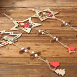 Christmas Decorations - Wooden Pentagram Pendant